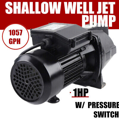 1 Hp Jet Water Pump 750w Shallow Well W Pressure Switch 12.5gpm Self Priming
