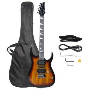 Glarry 6 String Electric Guitar 5 Single Pickup with Bag+Strap+Amp Wire Sunset