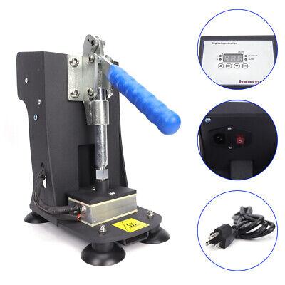 Black Rosin Heat Press Machine Hand Crank Dual Heated Plates 2x3 Handheld 110v