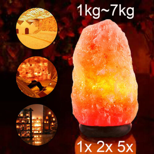 Himalayan Salt Lamp Natural Crystal Rock Shape Dimmer Switch