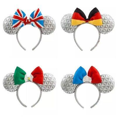 Disney Parks Epcot Mexico France Great Britain Bubble Gum Minnie Ears