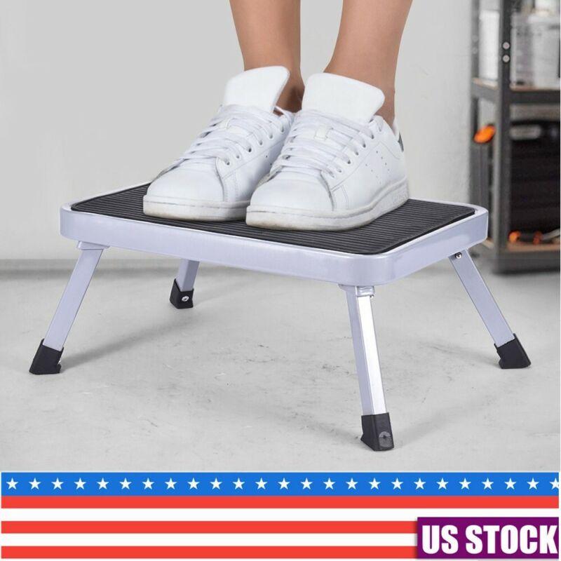 Mini 1 Step Folding Stool Steel Ladder Sturdy And Wide Pedal
