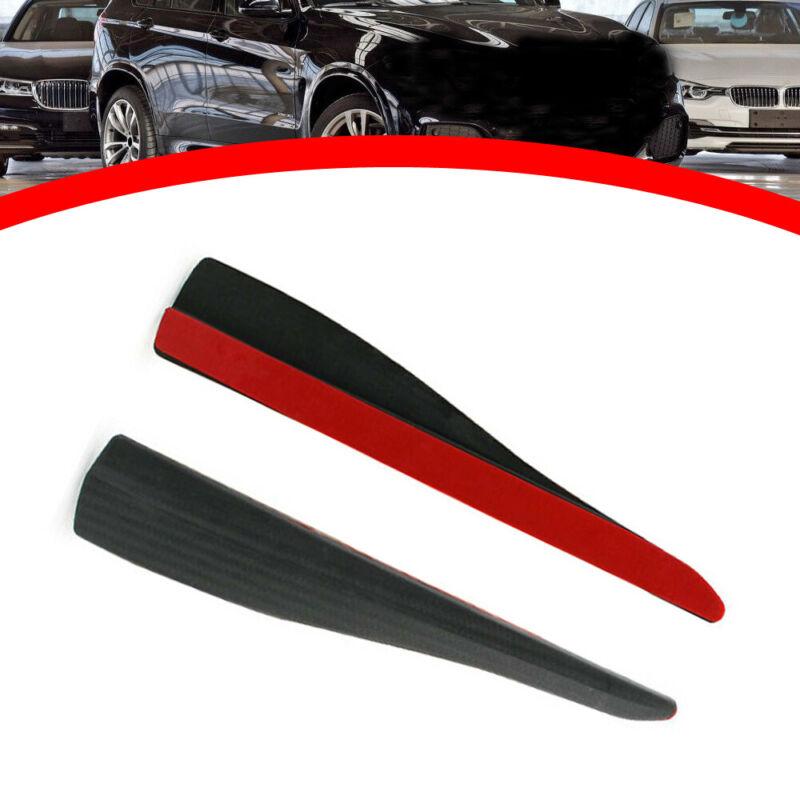 Car SUV Front Rear Bumper Corner Protector Guard Strip Black Carbon Fiber Look