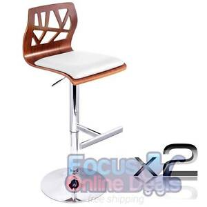 Set of 2 PU Leather Wooden Kitchen Bar Stool Padded Seat Melbourne CBD Melbourne City Preview