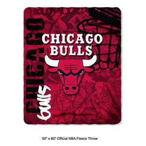 New Northwest NBA Chicago Bulls Fleece Throw Blanket Large Size 50