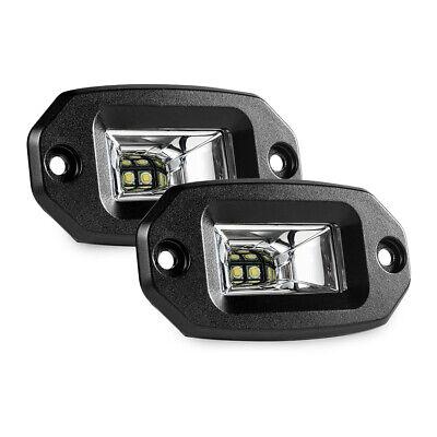 2x 28W LED Light Bar  Flood Pods Flush Mount Off Road Work Lamp for Pickup Auto