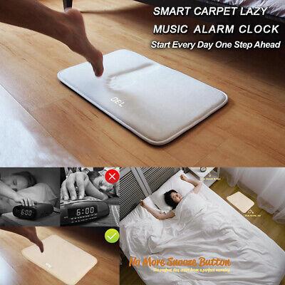1x Soft Carpet Alarm Clock LED Smart Digital Display Pressure Sensitive Rug Home