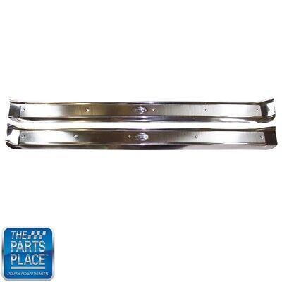 2 Door Hardtop Convertible - 1965-70 Cadillac 2 Door Hardtop & Convertible Door Sill Plates Pair