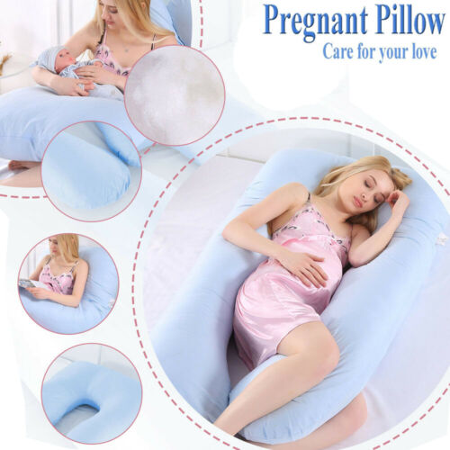 U Shape Total Body Pillow Pregnancy Maternity Comfort Suppor