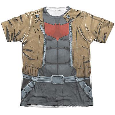 Batman Red Hood Halloween Costume (BATMAN RED HOOD UNIFORM COSTUME Front Print Halloween Men's Tee Shirt)
