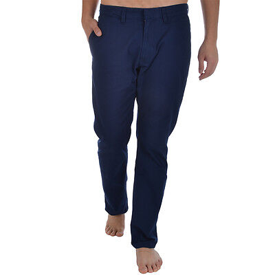 adidas Originals Mens Regular Fit Chino Pants Trousers Bottoms Blue 32W 32L