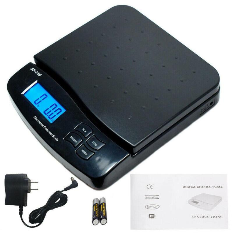 66LB x 0.1oz Digital Postal Shipping Scale Weight Postage Counting 30kg +Adapter