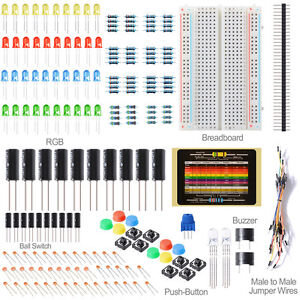 Electronics Components Package LED Breadboard Switch Button For ARDUINO TE471