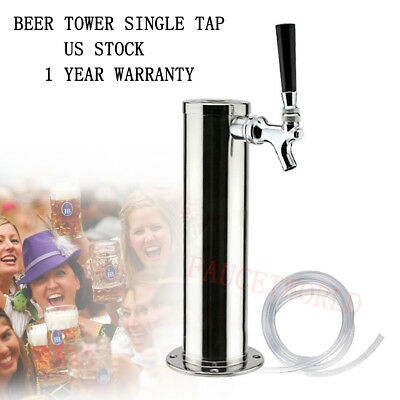 Single Tap Draft Beer Tower One Faucet Stainless Steel Homebrew For Kegerator Us