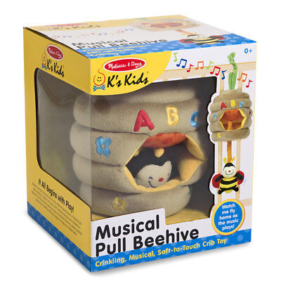 Infant Musical Pull Toy (Melissa & Doug Musical Pull Beehive Soft Musical Infant Baby Crib Toy Birth &)