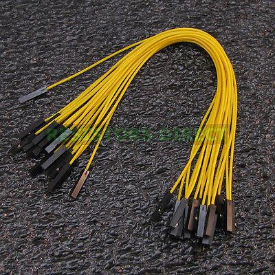 20x 20cm DuPont Yellow Female to Female 20pcs Breadboard Jumper Wire Arduino W32