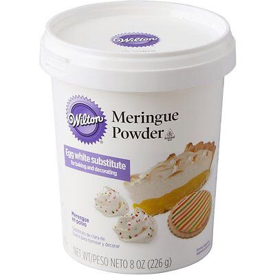 Wilton 8 oz Meringue Powder Mix Royal Icing Cookies or Egg White Replacement - White Icing