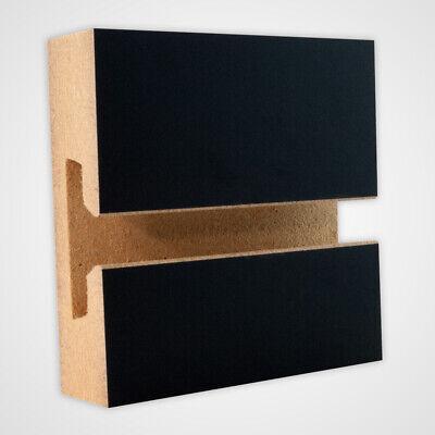 Horizontal Slatwall Panels With Black Finish In 4 Feet H X 8 Feet W - Lot Of 2