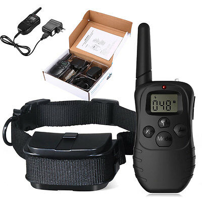 Waterproof Remote Training Shock Collar Vibra E-Collar for Small Med Large Dogs