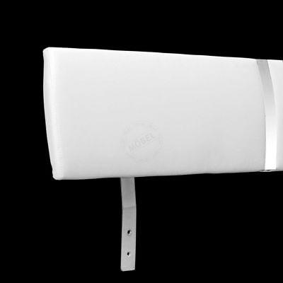 Kopfteil LUMA 140-160cm weiß Bettkopfteil Kunstleder ()