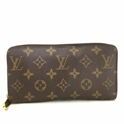 100% Auth Louis Vuitton Monogram Zippy Zip Around Long Wallet purse