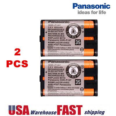 2x Panasonic HHR-P107 NIMH Rechargeable Batteries 3.6V 650mAh for Cordless Phone