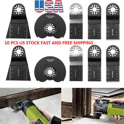 10x Oscillating Multi Tool Saw Blades For Fein Multimaster Ridgid Ryobi Bosch-us