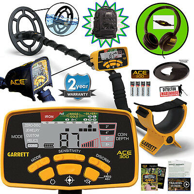Garrett ACE 300 Metal Detector Spring Special with Headphones & Free Accessories