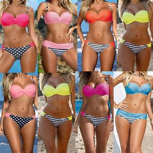 2017-Mujer-Vendaje-Push-Up-Acolchada-Set-De-Bikini-Bandeau-Triangulo-Banador