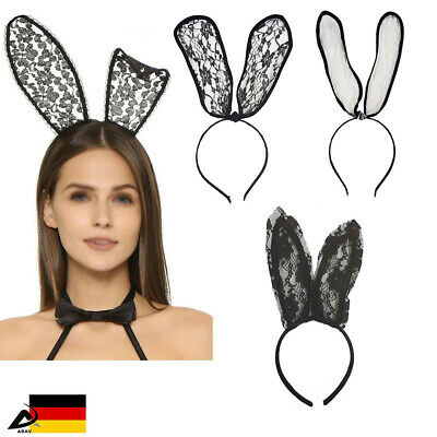 Bunny Oster Hase Ohren Haarreifen Sexy Bunny Kostüm Fasching Karneval Erotik  (Bunny Ohren Kostüme)