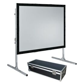 100″ Fast Fold Projection Screen, Front + Rear, 4:3 £300 NO OFFERS BRAND NEW BOXED