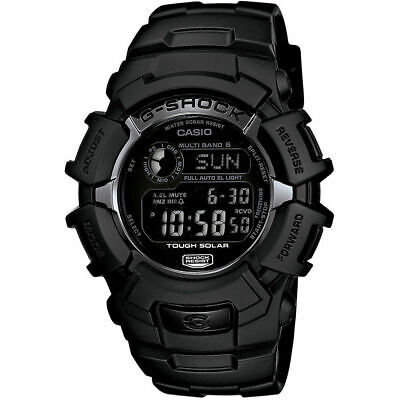 Casio 46.4mm Men's G-Shock Water-Resistant 200M Solar Atomic Watch, Black Used