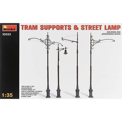 NEW MiniArt 1/35 Tram Supports (3) Street Lamp (1) 35523