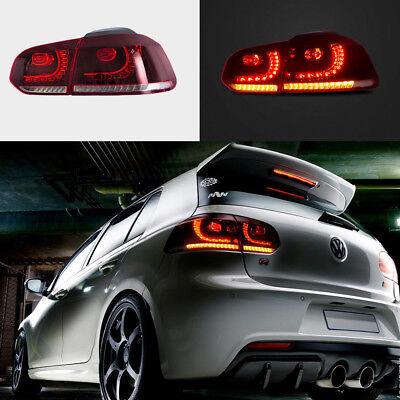 VLAND LED Sequential Tail Light Lamps For 2009-2014 Volkswagen Golf 6 MK6 GTI R - Gti Led Tail Lights Lamps