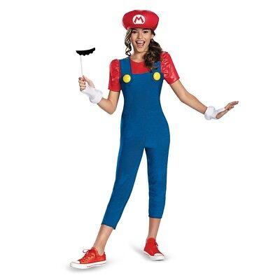 Mädchen Tween Nintendo Super Mario Brothers Mario Halloween Kostüm (Super Mario Kostüme Mädchen)