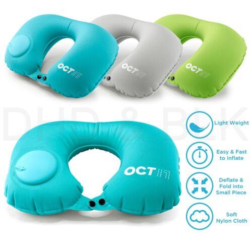 Inflatable Air Pump Travel Neck Pillow Comfortable U-Shape A