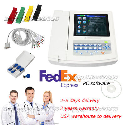Touch Screen 12-channels 12 Leads Ecgekg Electrocardiograph Machine.sw