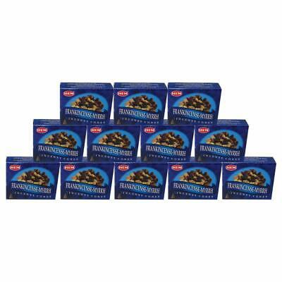 Hem Incense Cones Frankincense And Myrrh 10 Packs Of 10 = 10