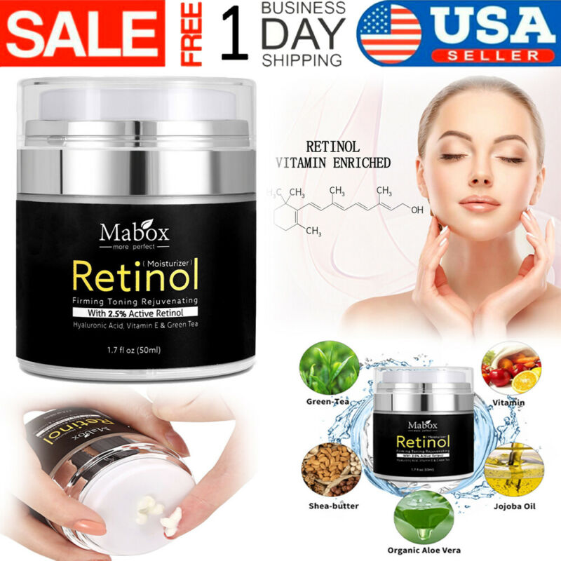 Retinol Moisturizer Cream For Face and Eye Area 1.7 Oz With