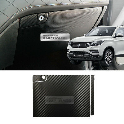 Carbon Trunk Inside Bumper Anti Protector Decal 1ea for SSANGYONG 2017 G4 Rexton