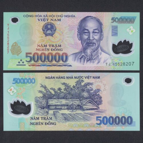 HALF MILLION VIETNAMESE DONG CURRENCY (VND) (1) 500,000 Banknote - FAST DELIVERY