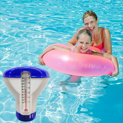 Pool Supply Town Floating Chlorine & Bromine Tabs Dispenser With Thermometer