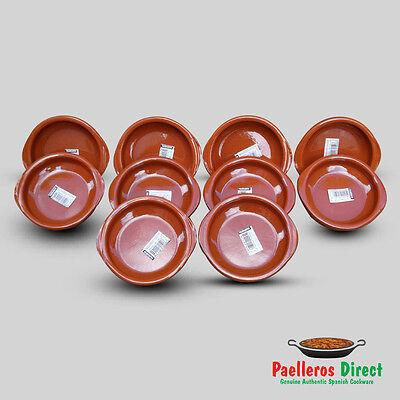 Set of 10 x 12cm Spanish Terracotta Tapas Dishes / Cazuelas