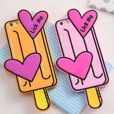 Lovely Cute Soft Silicone Case Girly Back Cover for Apple iPhone 7/6/6s/Plus Cute Apple