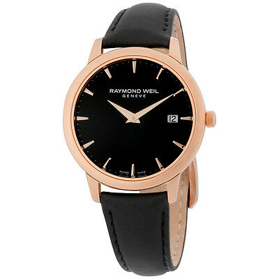 Raymond Weil Toccata Black Dial Black Satin Ladies Watch 5388 PC5 20001