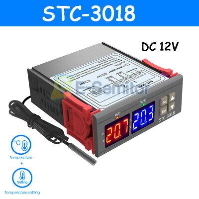 Stc-3018 Dc12v Digital Dual Led Temperature Controller Thermostat Probe Sensor