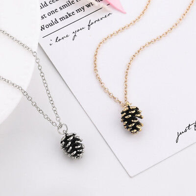 Women Lady Chic Bronze Acorn Layering Pine Cone Alloy Necklace Pendant Jewelry ](Pinecone Jewelry)