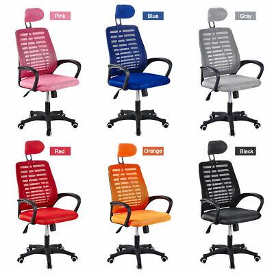Ergonomic 360 Swivel Mid Back Computer Office Desk Chair Heavy Duty Metal Base