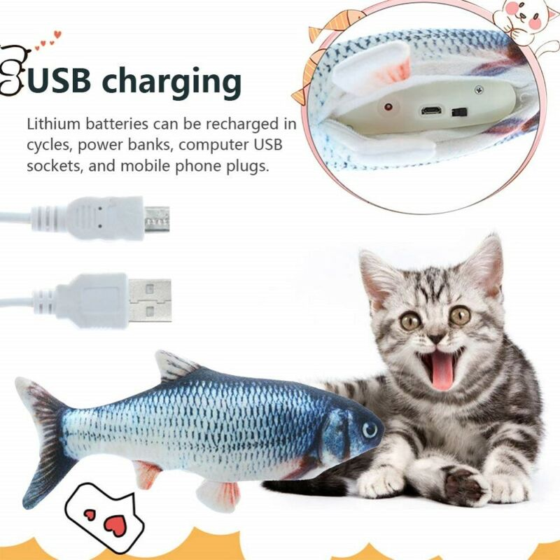 Electronic Pet Cat Toy Electric USB Charging Simulation Fish Toys for Dog New