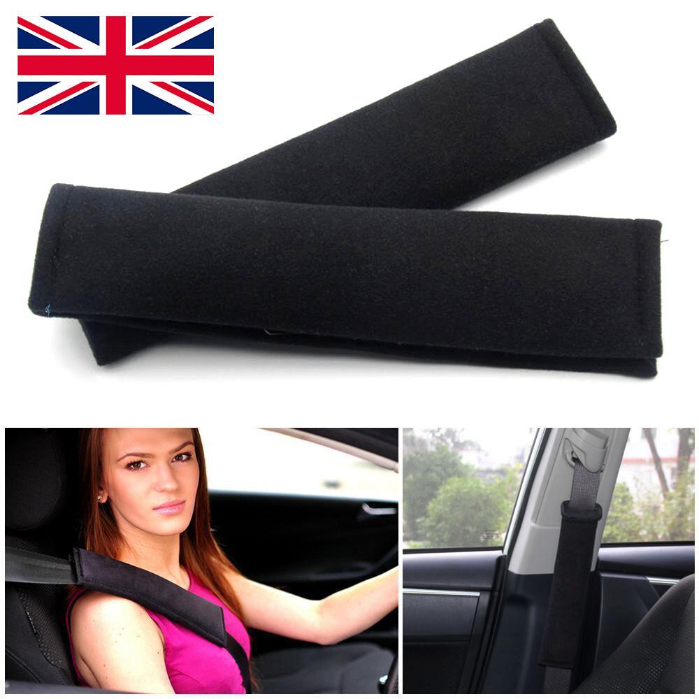 2x car seat belt pads harness safety shoulder strap backpack cushion covers kids ebay. Black Bedroom Furniture Sets. Home Design Ideas